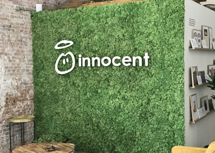 Innocent Drinks Moss Wall