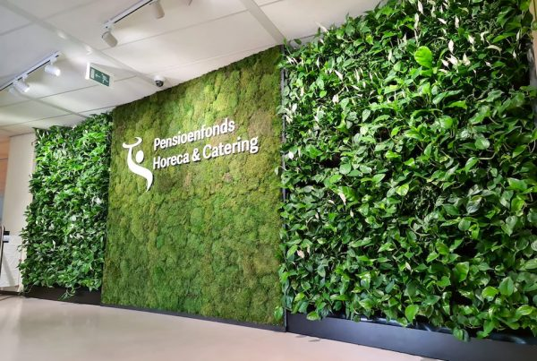MOSWAND. LOGO. LIVING GREENWALL. Pensioenfonds Horeca & Catering